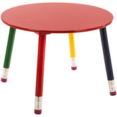 Round Child's Pencil Table